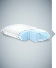 Low Zoned Gel Dough Pillow